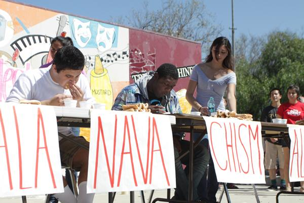 Food warriors participate in eating competition