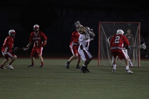 Boys varsity lacrosse put up a fight against Redondo