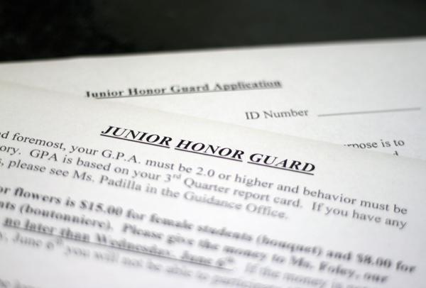 Junior honor guard