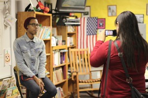 "As a way to promote the ROP classes on campus, Alyssa Talavera, 11, films Bryan Walker, 12, from the ROP Principles of Education class, during her ROP Film and Video Productions hour. ""When I chose this class,"" Talavera said, ""I was really surprised how I learned so much in very little time."""