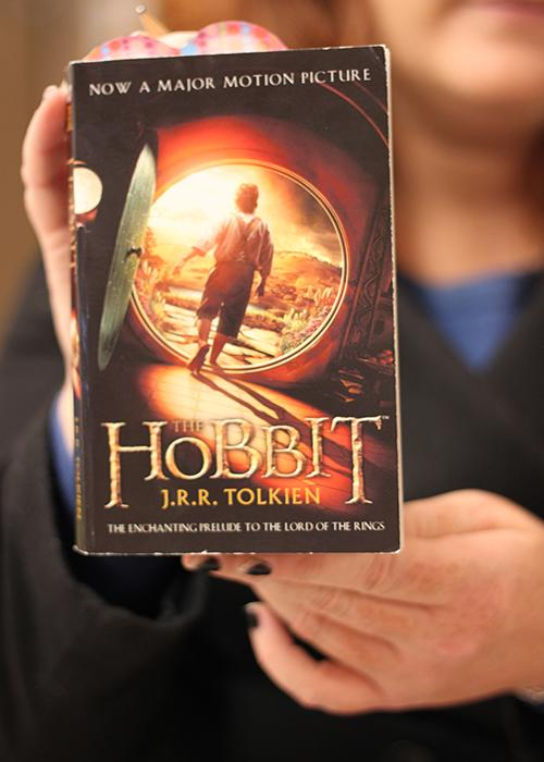 On Thursday, December 13, students gather in room C-106 to read the new novel The Hobbit. Club members will walk to the Krikorian theatre on Dec. 21 for  the new released film.