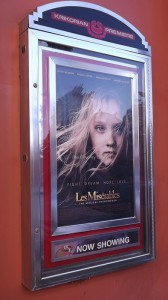 Premiering on Christmas Day in 2012, at the Krikorian Theatre, is Victor Hugo's Les Misérables, based on his 1862 French novel ,that depicts the story of a convict who is changed by a single act of compassion. Hugh Jackman, Russell Crowe, and Anne Hathaway star in this film along with other familiar names