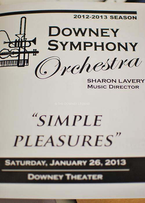 """At the Downey Theater, the Downey Symphony Orchestra, directed by Sharon Lavery, performs """"Simple Pleasures"""" on Jan. 26. Sharon Lavery is also a professor at USC and resident conductor at the Thornton School of Music."""