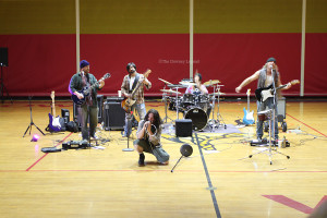 In attempts to help bring in more donations for Relay for Life, math teacher Eric Bradfield and his band, DTC, perform during both lunches on Thur March 21, in the gym.  The band performed a series of grunge songs including works originally by Nirvana and Pearl Jam.