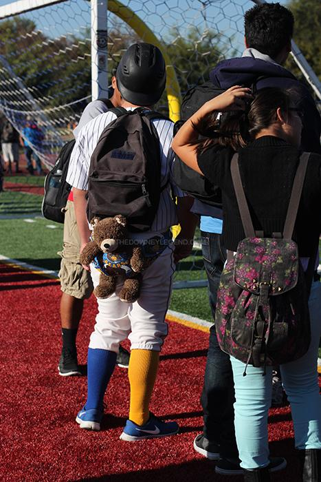 On Warren Wimp Day many students use stuffed bears as acessories to go along with their outfits. It was common to see stuffed bears tied to a piece of rope being dragged by students.