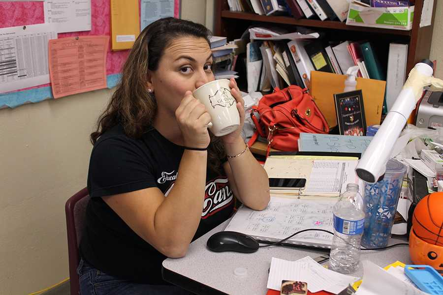 "In the month of December of 2012, with Mr. Zegarra's help Mrs. Hernandez gathered students from her business class and brought to life Small Town Brew, a coffee shop in the stadium. ""We made mistakes like any business would make,"" Hernandez said. ""But we got through it."""