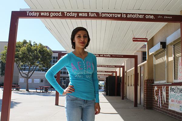 """With a 3.4 G.P.A, Bridgett Mota ,12, has the grades for a four year unversity. """"I always dreamed of going to any four year college-first out of my family,"""" Mota said."""