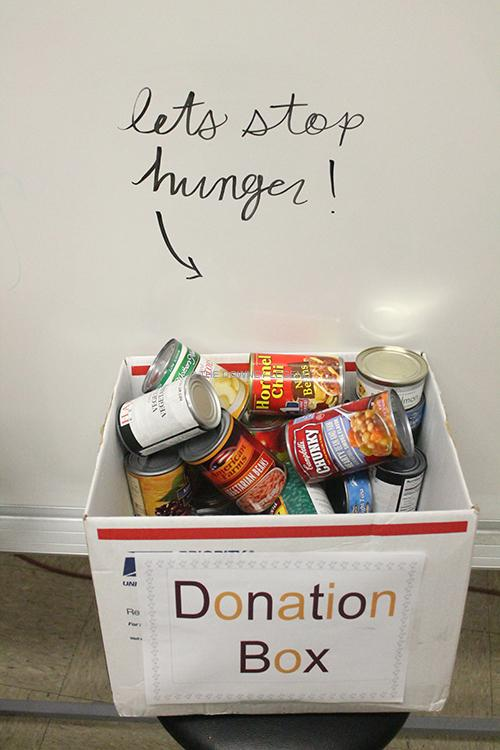With the annual food drive taking place in the month of November, classrooms are gather canned foods to donate to families who can't afford the extra expense of the holidays. For several years, teachers have persuaded students to donate by offering extra credit or other prizes.