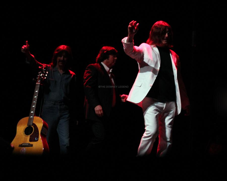 """After they preformed their last planned song on Sat., Oct. 26, at the Downey Civic Theater, the group came back on stage as the crowd chanted for one last song. """"We want to leave on a good note,"""" Jeff Toczynski, as Paul McCartney, said. """"Here is 'I Saw Her Standing There'."""""""