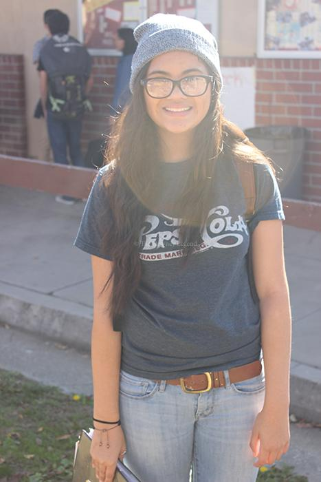 On Tues., Jan. 14, senior Jackie Tester dresses as a hipster to participate in the biannual Downey-Warren spirit week.