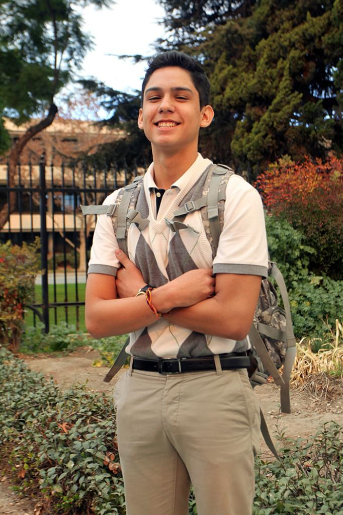 On Thurs., Jan. 16, Jorge Rodriguez, 12, shows his school spirit by participating in spirit week's preppy day.