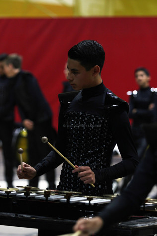 """On Sun., Mar. 2, junior Tony Corona, plays bells and crotales in the Independent Marching World group, Dark Sky Percussion, at the Downey High School Gym.  """"I first joined the group to play the cymbals in the battery,"""" Corona said, """" but then I got switched to the front ensemble to play the bells and crotales."""""""