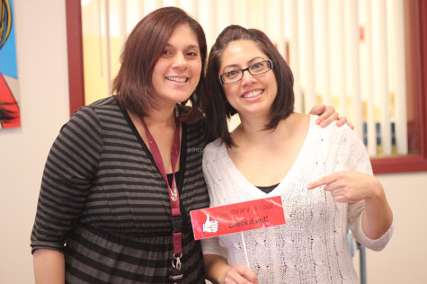 During Mrs. Ortiz's maternity leave in November, her sister, Ms. Flores, manages the library until her return in March. Mrs. Ortiz said the hardest part of returning is missing her newborn daughter, Eva Catalina.