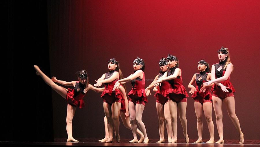 """At the Downey Civic Theater on Wed., May 7, the Dance Team and CTE Dance present their annual Dance Review.  The DHS Dance Team performed their dance """"Apres Moi"""" choreographed by Bailey Stump."""