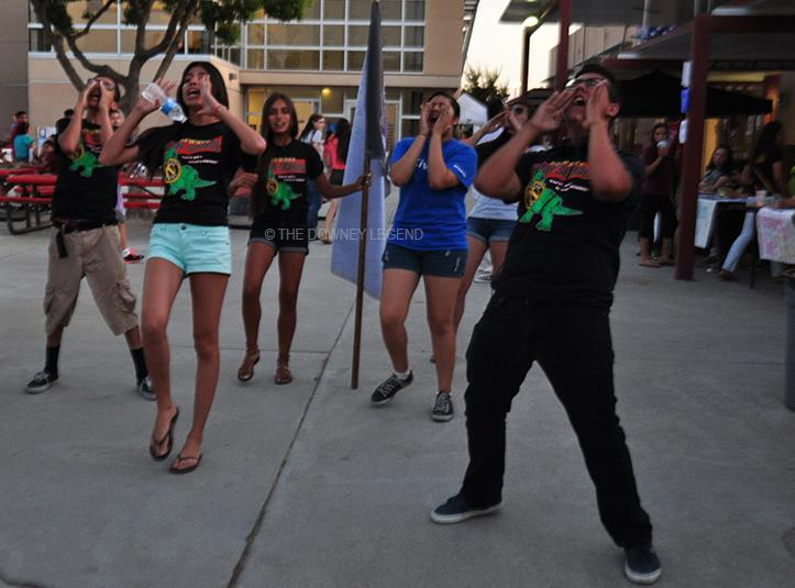 """On Thru., May 15, KIWIN'S start their chant in the middle of the quad during the annual Open House. """"KIWIN'S is a club that makes me feel like I am at home; it is such a great experience,"""" sophomore Joaquin Oropeza said. """"I feel like I belong when I am with them."""""""