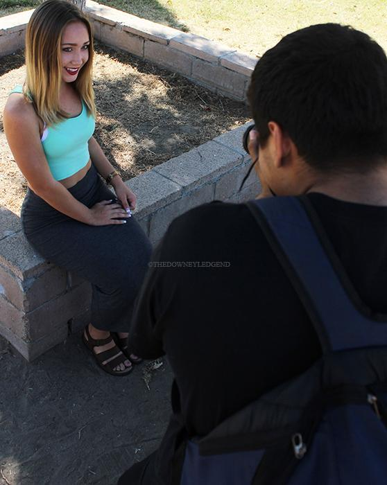 On October 7, Brooke Cuttress, 12, and Joshua Franco, 12, displays what their modeling and photography jobs consist of outside of school, both having different personality's enjoy working together as co-workers. Franco and his dad own Red Crew Films, where they photograph and video events, and LAModelMagazine, a fashion magazine with beauty tips and lifestyle guides; Cutress is their main model, but she also works for different companies such as Blim girl, for brands that endorse NASCAR, and can be seen in their ads and headers for their website and Facebook page.