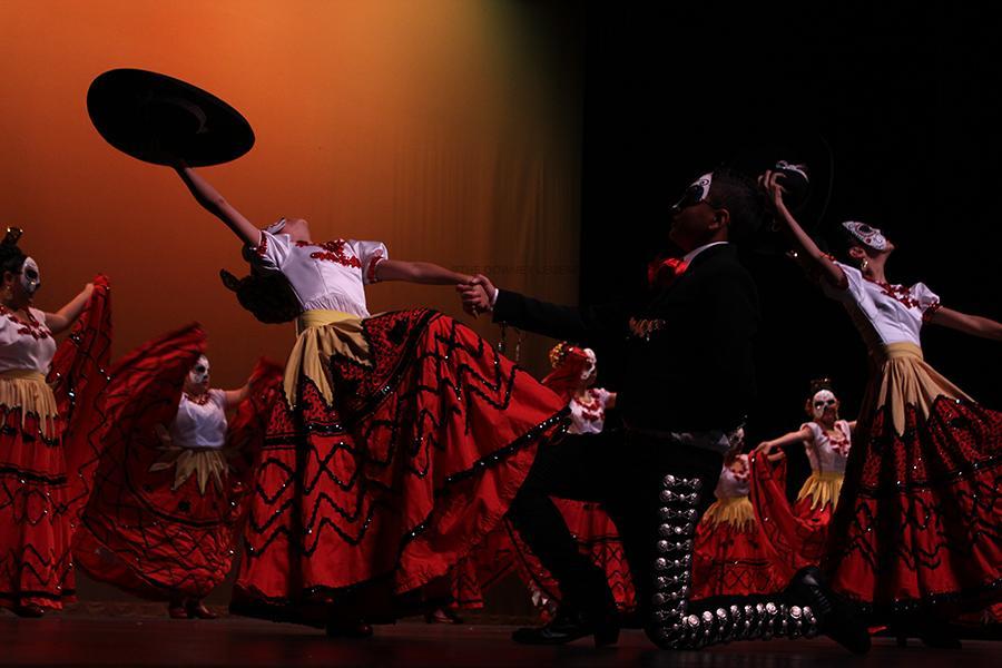 In honor of El Día de los Muertos, Resurreción Mexican Folk dance ballet folkorico on Sunday, Nov. 2, at the Downey Civic Theatre. They were one of the biggest teams who danced folkorico on this special day.