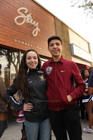 """Carlos Agredano, 11, and Emily Lopez, 12, are student ambassadors for Stay Gallery, and their partnership started in early November. """"We began to grow a close relationship with the directors of the gallery,"""" Lopez said. """"They knew us as the two ASB kids from Downey and Warren."""""""