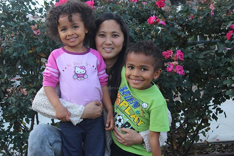 "English teacher, Ms.Nishioka, shares her story about adopting her children, Travis and Chloe, during Dec, 2014. ""While I knew it would be a challenge for me, I never imagined the true possibilities,"" Ms. Nishioka said."