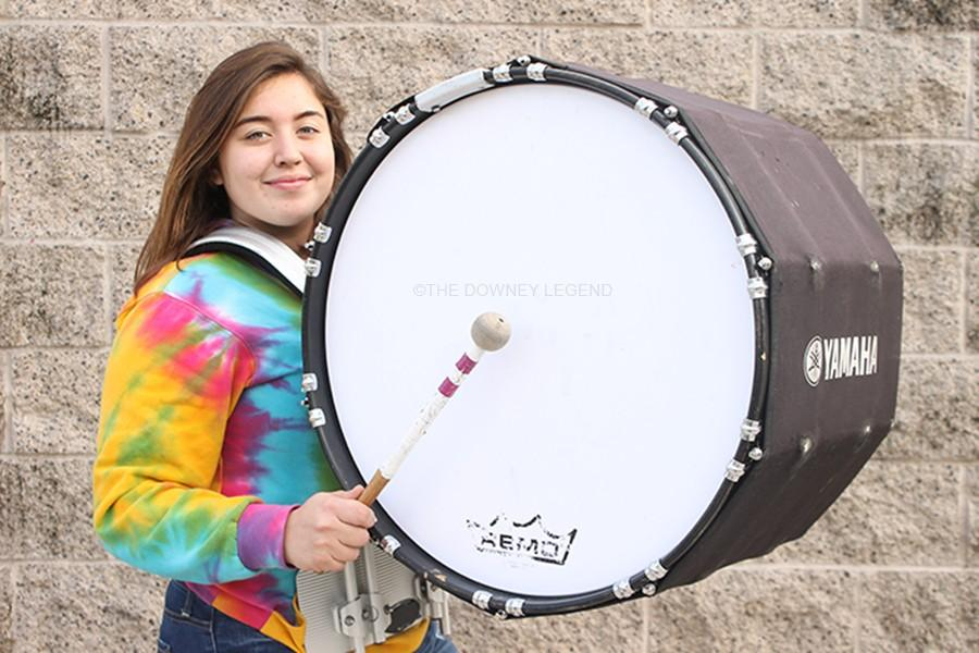 Outside+the+drum+room+on+Jan.+13%2C+freshman+Selina+Partida+gets+ready+for+the+winter+drumline+season+that+starts+this+February.+%E2%80%9CI%E2%80%99m+really+excited+about+this+new+season%2C%E2%80%9D+Partida+said%2C+%E2%80%9Cespecially+since+this+is+my+freshmen+year+and+not+many+people+experience+a+winter+season+since+its+not+annually.%E2%80%9D