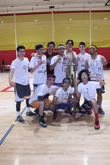 """On Mar. 6, in the Downey High School gym, Justin Ayala, 12, and his team [Dem Boyzz] compete in the dodge ball tournament to have some fun before they graduate. """"This is the second year we competed,"""" Ayala said. """"Since we won last year, I had the feeling we were going to win this year; that's why our team name has two Zs."""""""