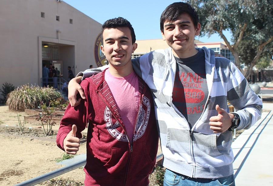 During the last week of February, both seniors and cousins, Andres Diaz and German Diaz, celebrate the top applicant reception letter they received from the University of California, Santa Barbara. They both plan on attending the ceremony together and are excited for what there is to come.
