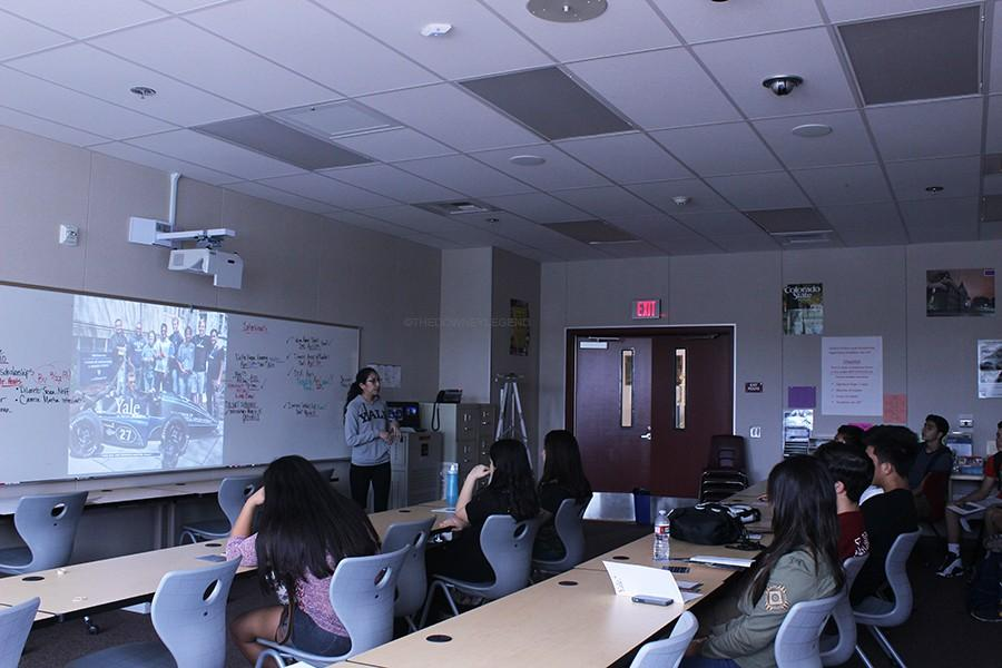 On Mar. 18, students from Downey High School attended the Yale University meeting held by Daniela Dellarza to receive information about the university. The meeting provided information on the campus like financial aid, housing, and requirements for going to Yale.