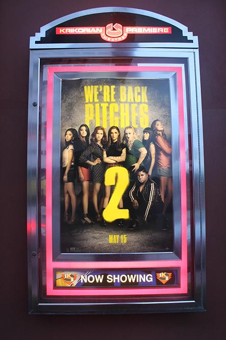 On Fri. May 15, one of the newest movies, Pitch Perfect 2, was released at Krikorian movie theatre.  The movie starred celebrities such as Anna Kendrick, Rebel Wilson, and Skylar Astin.