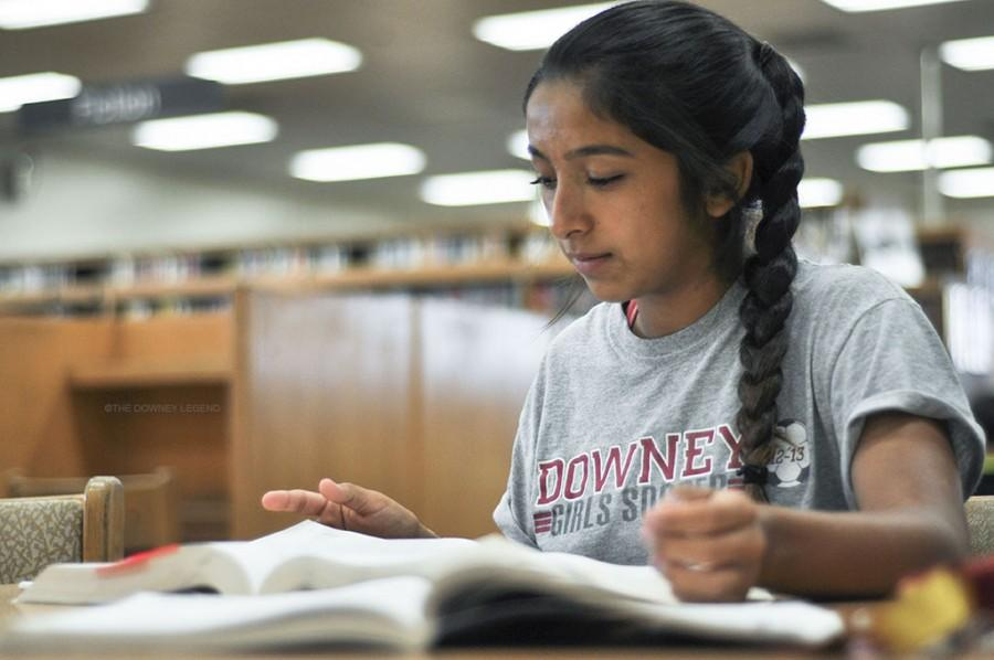"Downey High Student, Brittany Reynoso, has begun to study for the SAT trying to learn what she can to achieve a good score on the upcoming SAT. ""After senior year I plan to attend a four year college in San Diego, specifically San Diego State where I want to study business."""