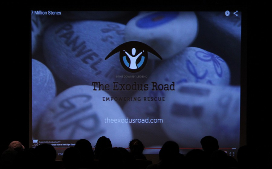 """During the screening in the DHS theatre, the organization Exodus Road was mentioned by Stop the Traffick to promote the collaboration they have with the organization.  """"We set a goal of $2,300, and we actually passed our goal, reaching roughly $2,500."""" Bayardo said. """"Exodus Road was very thankful for our donation."""""""