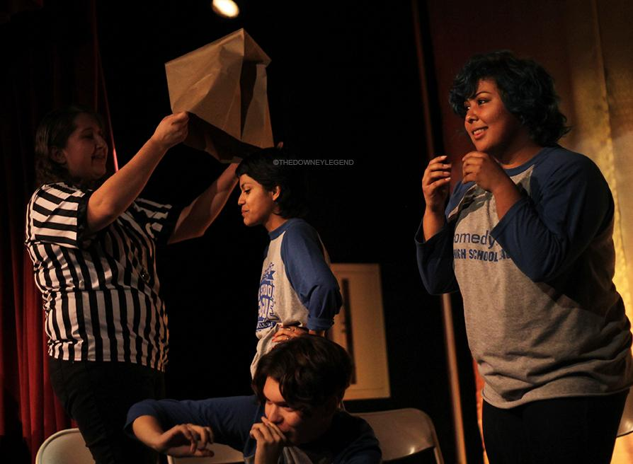 """Laughter was shared amongst the crowd during Downey High School's Comedy Sportz, in the theater, on February 12. """" I really enjoyed the show,"""" Allie Gonzales, 11, said. """"I didn't expect it to be so funny and entertaining."""""""