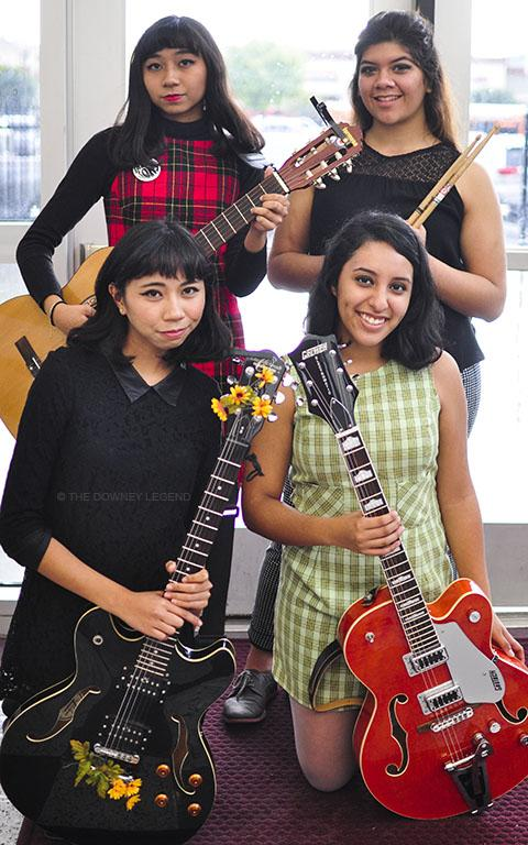"""Stephanie Castineda, Angeline and Madaline Doctor and Jessie Martinez cover 50's to 60's era rock mixed in with some rockabilly. """"We wanted to do like a vintage inspired band,"""" Castineda said. """"There is a song called the 'Do Ron Ron' and it's a 1960's girl group song by the Crystals."""""""