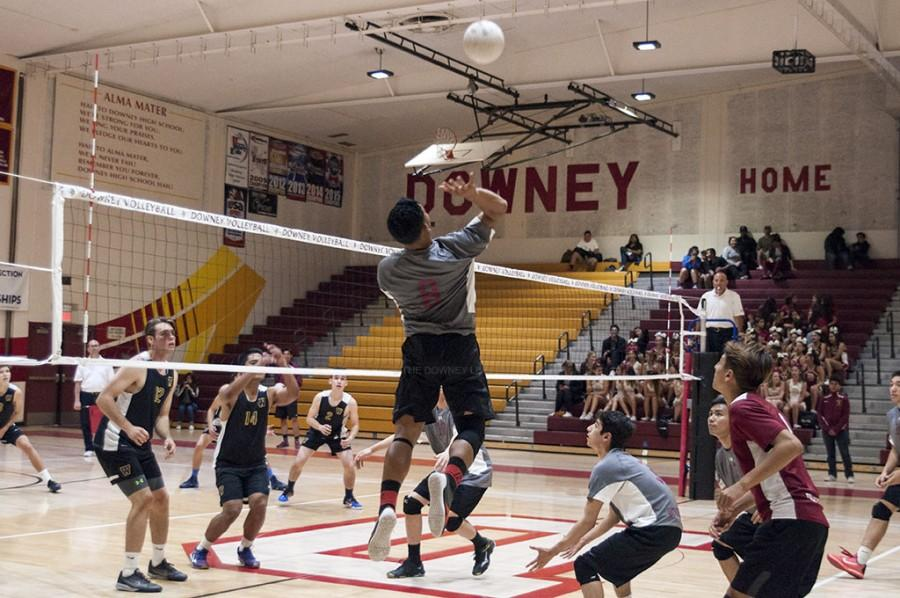 """The boys volleyball team played their hearts out against Warren on Tues., April 26 at their home court. For the seniors on this team, this is their last time facing off with the Bears leaving them with a """"bitter sweet feeling."""""""
