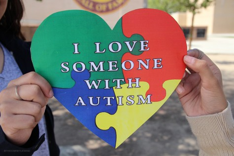 """Autism Awareness Month is celebrated all month long and is traditionally symbolized with a puzzle piece. """"The puzzle piece definitely symbolizes autism, because the people who have it are the completing piece of our puzzle, called life."""""""
