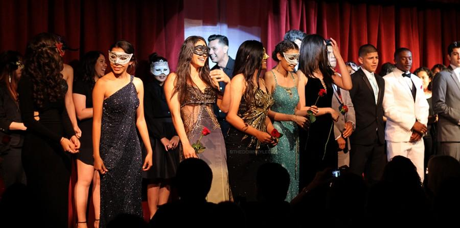 At the end of the show, all the models gathered on stage to thank the sponsors and the audience members for showing up on April 22. All of the dresses were donated by an organization called Glamour Gowns.