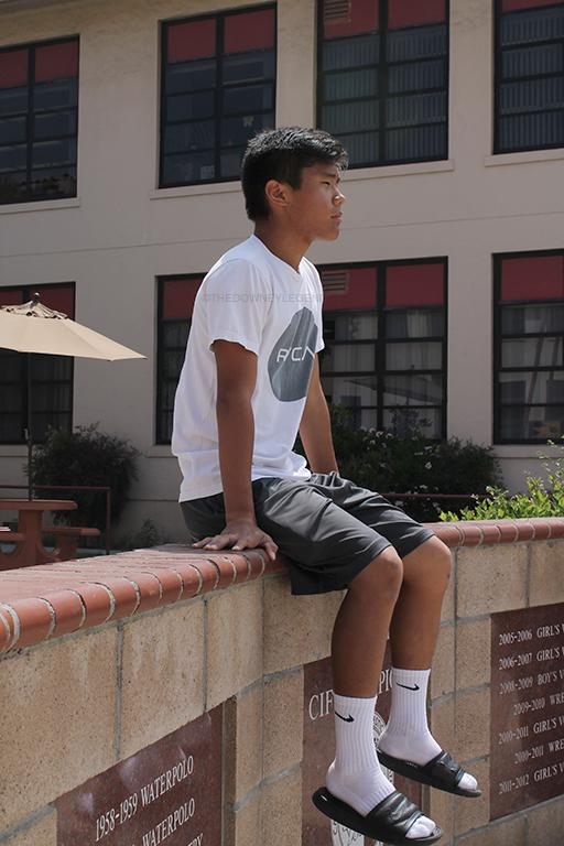 """Singles player, Justin Park, 11, values the family environment the tennis team gives him. """"It's believing in your teammates that has to be the most important thing to do as a whole group,"""" Park said."""