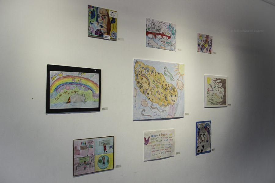 The city of Downey's Stay Gallery hosts an exhibit, Reflections, on May 16 to show student's artwork from kindergarten to twelfth grade. The theme was Let Your Imagination Fly, and the event was a free walk-in.