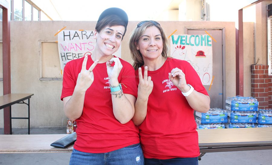 """During the Freshmen Tailgate in the quad on September 9, new link crew advisers, Ms. Cubas and Ms. Simpson, make sure to look after the Link Crew leaders, all while making sure to have fun and make the freshmen feel welcome. """"I'm really excited to join [the club],"""" Simpson said, """"and I want to make sure it lasts beyond the event."""""""