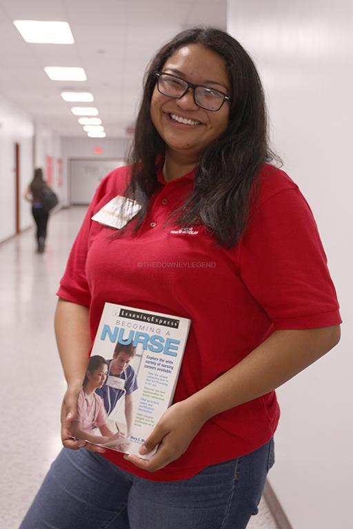 """After high school, Nicole Montes, 12, plans to attend to a Cal State college in nursing. """"I love making people feel better,"""" Montes stated. """"I currently volunteer and have been getting hands on training regarding the medical field."""""""