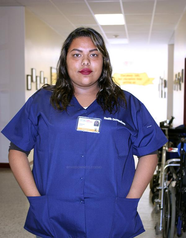 """Due to her desire to be a nurse, Stephanie Garcia, 12, is taking health occupations to get hands on training in the hospital. """"I chose to be a nurse because I wanted to become someone that could help people,"""" Garcia stated. """"My mom inspired me to become part of the medical field because she was always showing me how to bandage and clean wounds properly when I was young."""""""
