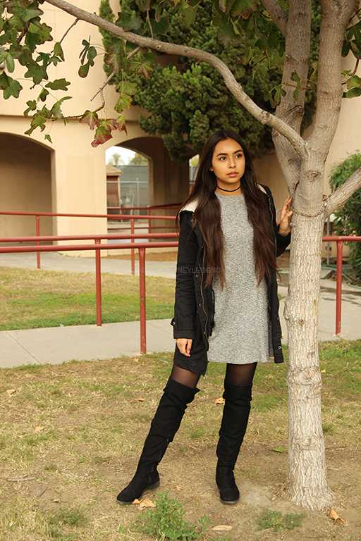 """From a young age, Pahola Gallegos, 11, has embraced fashion and doesn't let the chilly winds hitting DHS faze her style. """"I've always felt that the best way to present yourself is when you look your best you know,"""" Gallegos said. """"I dress to impress whenever I can, because you never know who you're going to meet that day."""""""