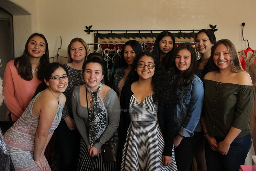 "In order to help those who cannot afford a dress for dances, Glamour Gown members, Catherine Saldivar, Sara Guillén, Kaylee Aburto, Madeline Weyers, Isabella Fierro, Giselle Garcia, Michelle Vilarino, Kayla Terrazas, and Alexandra Romero come together on January 14 at the Casa de Parley Johnson.  ""Many of us have been doing this since our freshman year,"" Garcia said. ""It was nice to see how happy everyone gets once they find the right dress and 'Say yes to the dress'."""