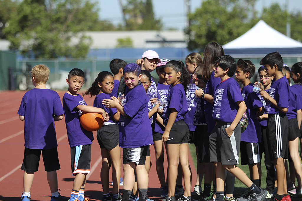 At the Carnival Champions, Rio San Gabriel Elementary School participants prepare for the final run on April 30 at the Warren High School track. Winning second place, Rio San Gabriel was proud of their students and their dedicated in the level of commitment, they had to this event.