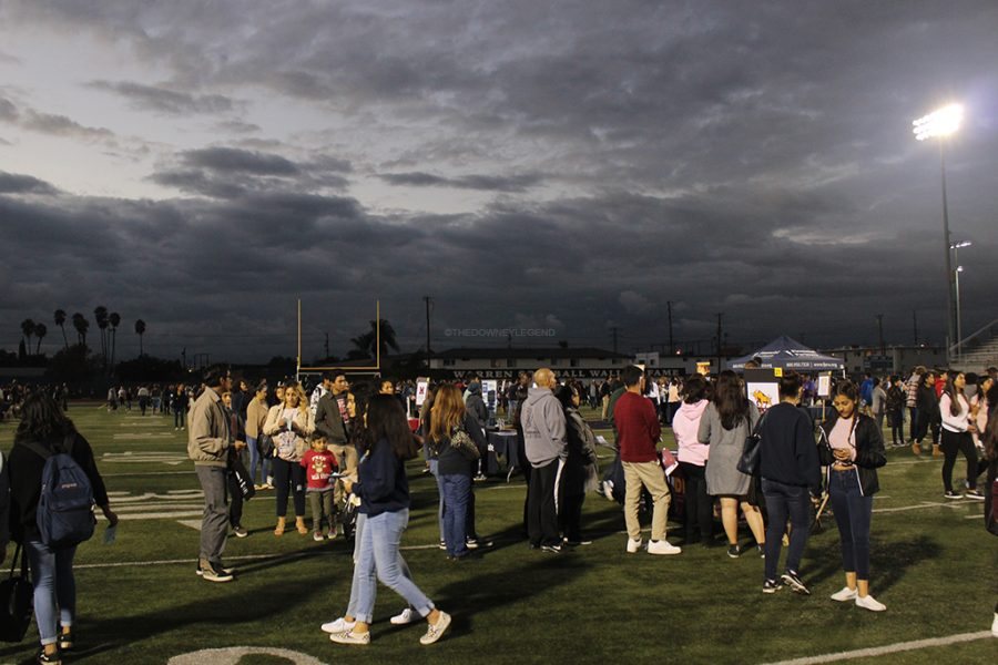 Students from middle schools and high schools throughout Downey attend the annual College Fair at Warren High School on Nov. 2. There were a number of people waiting for UC Berkeley, although the university did not make an appearance to the fair.