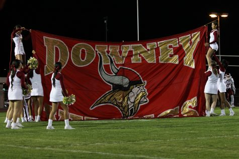 The Downey varsity football team ends the season with a score of 8-2. Friday, Nov. 3 marked the last game of the season with a win at Gahr High and a final score of 50-31.