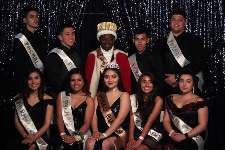 Formal court consists of five female and five male contestants.  Formal king was Barak Ross, 12,  (middle back) and formal queen was Valeria Corral, 12 (middle front).