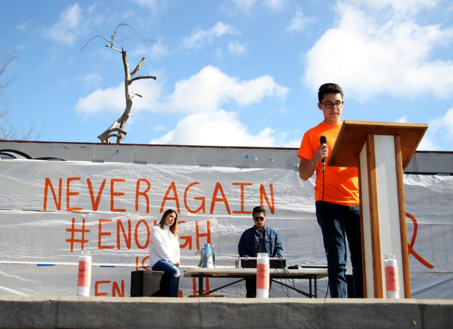 After walking out on Mar. 14 during third period, Emiliano Salomon, 12, speaks out on gun violence in schools and America.