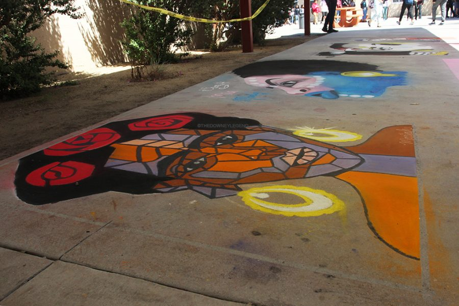 Chalk+art+is+a+project+done+by+Downey+High+School+students+for+12+years+now.+The+art+is+displayed+in+front+of+the+J+building.%0A