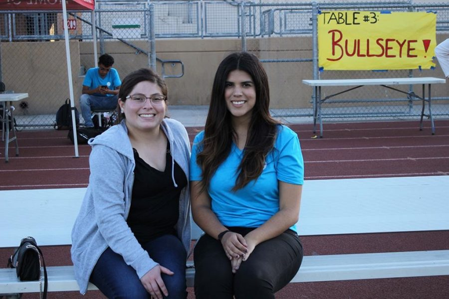 "While volunteering at the DUSD College Fair on Oct. 23 in the stadium, Alyssa Durazo, 12, encourages students to become more aware of different colleges and what they offer. ""All of us got to know more about the schools we are interested in,"" Durazo stated. ""This helps us be informed about schools we want attend in the future."""