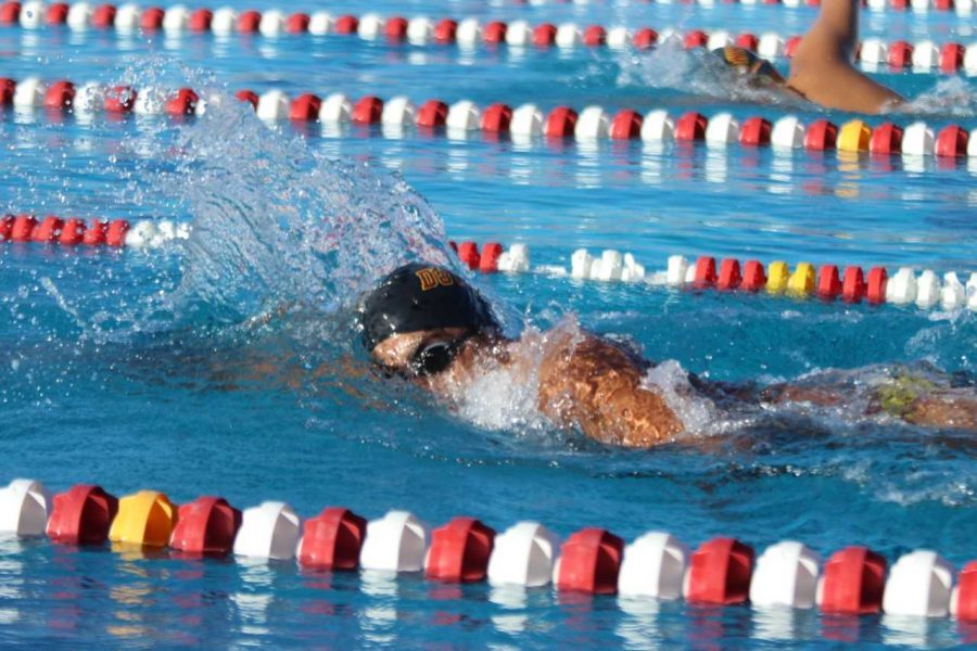 "Downey's swim team competed against La Serna on March 8 at the DHS pool where David Salazar, 12, who would engage himself into doing the best he could throughout the meet. ""I didn't want to let my team down,"" Salazar said. ""It was important to do the best as possible to have the best opportunity to be able to win."""